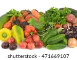 background of fruits and... | Shutterstock . vector #471669107