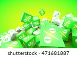 discount concept. green and... | Shutterstock . vector #471681887