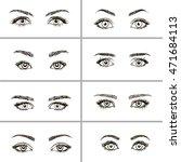 Set Of Vector Eyes Shapes. ...