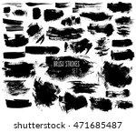 expressive ink spots of black... | Shutterstock .eps vector #471685487