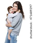 beautiful young mother with... | Shutterstock . vector #471689297
