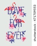 Slogan Love Forever On The...