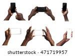 male hands holding mobile smart ...   Shutterstock . vector #471719957