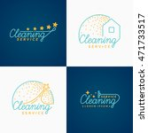 set. cleaning logo. collections ... | Shutterstock .eps vector #471733517
