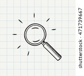 magnifying glass doodle icon.... | Shutterstock .eps vector #471739667