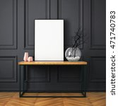mockup poster in the interior... | Shutterstock . vector #471740783