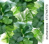 leaves of palm tree. seamless... | Shutterstock .eps vector #471744773