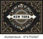 vintage design with floral frame | Shutterstock .eps vector #471751067