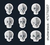 skull icon set in a flat style. ... | Shutterstock .eps vector #471770357