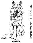wolf   an endangered species of ... | Shutterstock .eps vector #471771083