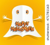 happy halloween card design... | Shutterstock .eps vector #471781163