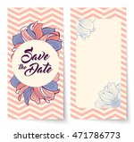 save the date card with... | Shutterstock .eps vector #471786773