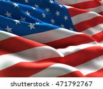 flag of usa waving in the wind. ... | Shutterstock . vector #471792767