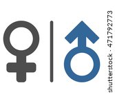 wc gender symbols icon. glyph... | Shutterstock . vector #471792773