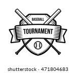 baseball logo. summer team...   Shutterstock . vector #471804683