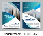 blue brochure layout design... | Shutterstock .eps vector #471813167