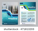 blue brochure layout design... | Shutterstock .eps vector #471813203