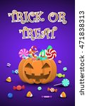 halloween sweets and candies in ... | Shutterstock .eps vector #471838313