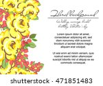 romantic invitation. wedding ... | Shutterstock .eps vector #471851483