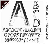 hand drawn and sketched font ... | Shutterstock .eps vector #471854057