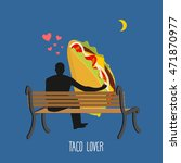 lover taco. mexican food and... | Shutterstock .eps vector #471870977