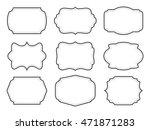 vintage labels.decorative...   Shutterstock .eps vector #471871283