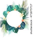 bright hawaiian design with... | Shutterstock . vector #471875717