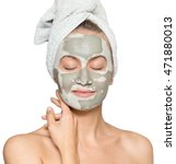 young woman with face mask... | Shutterstock . vector #471880013