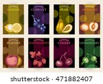 collection fruit labels poster... | Shutterstock .eps vector #471882407