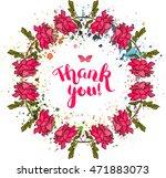 vector 'thank you' card design... | Shutterstock .eps vector #471883073