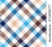 blue beige diagonal check...   Shutterstock .eps vector #471898577