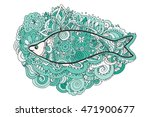 hand drawing zentangle.... | Shutterstock .eps vector #471900677