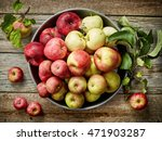 Plate Of Various Fresh Apples...
