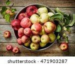 Plate Of Various Fresh Apples...