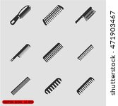 combs icon set | Shutterstock .eps vector #471903467