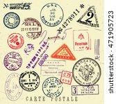 vector document stamp set....   Shutterstock .eps vector #471905723