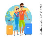 couple traveling summer... | Shutterstock . vector #471910787