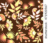 brown floral pattern   seamless | Shutterstock .eps vector #471920567
