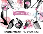 cosmetics and fashion... | Shutterstock .eps vector #471926423