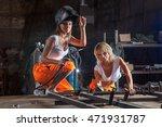 brigade of two sexy welder... | Shutterstock . vector #471931787