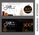 gift voucher. vector ...   Shutterstock .eps vector #471934463