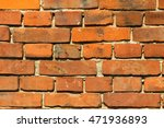red brick wall background | Shutterstock . vector #471936893