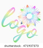 colorful flower logo with...   Shutterstock .eps vector #471937373