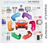 car service infographics with... | Shutterstock .eps vector #471949943