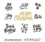 merry christmas. hand drawn... | Shutterstock .eps vector #471951227