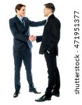 business handshake of two... | Shutterstock . vector #471951377