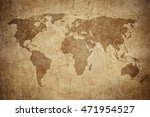 grunge map of the world | Shutterstock . vector #471954527