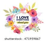 vector illustration of floral...   Shutterstock .eps vector #471959867