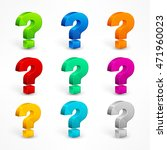 color question mark set on... | Shutterstock .eps vector #471960023