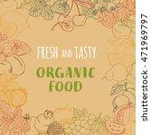illustration fresh organic... | Shutterstock . vector #471969797